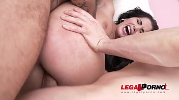 Hungary sex tourism - Loren minardi fucked to the limit - 5on1 gangbang with dp massive facial