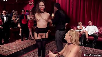 Busty Milf banged in orgy bdsm party