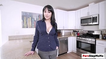 Stepmom gives stepson a passionate blowjob