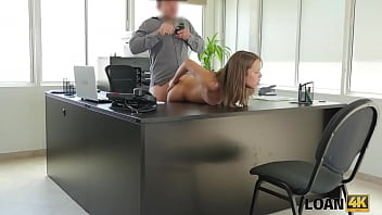 LOAN4K. Naive girl thinks that she can get a huge loan without sex