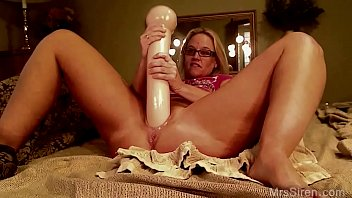 MILF with Giant Dildo on Webcam