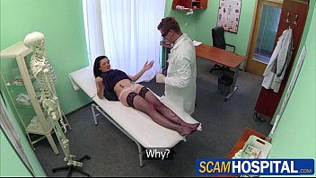 Gorgeous hot Inga gets fucked by her doctor in the examining table