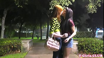 Redhead tgirl plows her shemale gf after bj