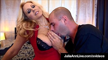 Dick Starved Cougar Julia Ann Pleases 2 Lucky Hard Cocks!