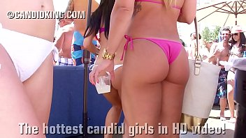 Bikini boo peek pic Bubble butt friends wearing thong bikinis showing sexy booty