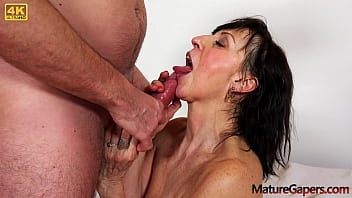 Hot granny Lotty Blue pussy gaping and hard fucking by Kamil Klein