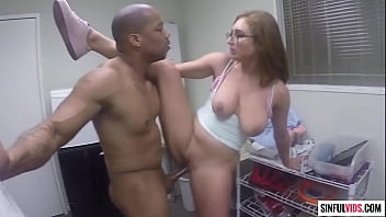 Skylar Snow receives huge load on her face and glasses - SNATCH CHAT SCENE 1