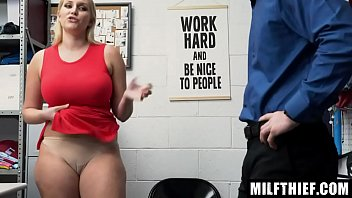 Milf Allowed to Leave After a Shoplifting Fuck From the Officer - Vanessa C