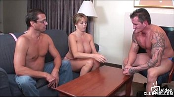 strip poker winner gets handjob from Amber Lynn Bach