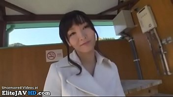 Japanese hot girl gives outdoor blowjob