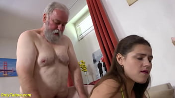 Chubby Teen Rough Banged By Grandpa