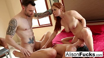 Threeway bound and spanked with Alison Tyler, Penny and Alex 9 min