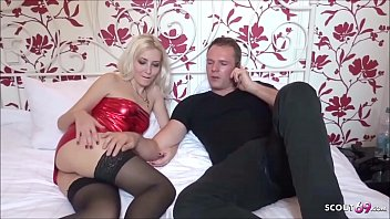 Real Hooker Fuck with German Teen Couple for Cash in Hotel