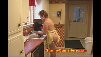 Old redhead wife Granny slut fucked in her kitchen by bbc