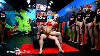 Skinny Super whore Ashlee Cox shared and glazed - German Goo Girls
