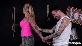 Inked Fantasy Kayla Green gets Bound & Fucked at Tattoo Parlor 31 min