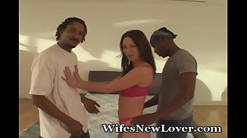 Wife Surprised By Two Blacks