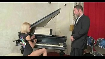 Blonde Cutie Playing The Piano Feet Sex