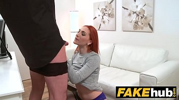 Fake Agent Horny Redhead prefers hard cock over wet pussy preview image