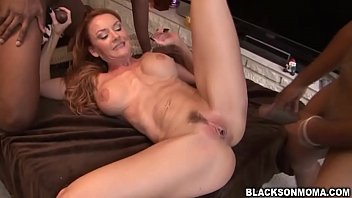 Horny Janet Mason banging a big dick for pleasure