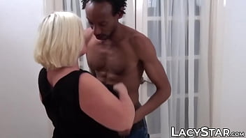 Chubby mature babe BBC slammed and squirted with cum