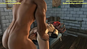 Jill Valentine Captured and fisted hard 3D porn animation