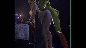 FNAF Female security guard fucked rough by Chica