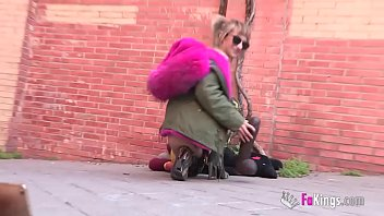 Phone bustings. Nina gets dudes hot by being COMPLETELY NAKED in the streets!