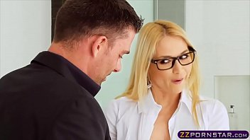 Busty blonde real estate agent gets double penetrated 6 min