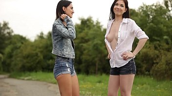 Lessbian erotic - Daphne angel and friend enjoying massage outdoor