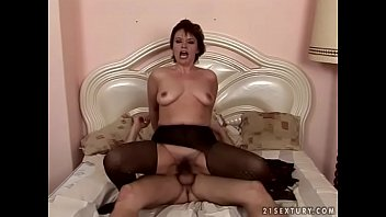 Mature week Attractive mommy in a nice lingerie