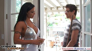 Hot sheer dress pornstar Brunette cougar jewels jade fucking well