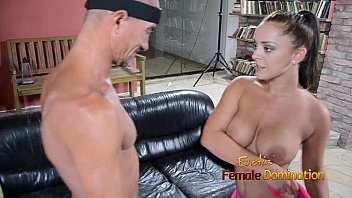 Labo female fetish wrestler Wide hipped lisa ballbusting a freak