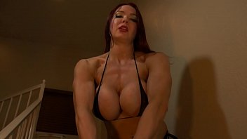 Muscle Babe Humiliates Your Scrawny Body 6 min
