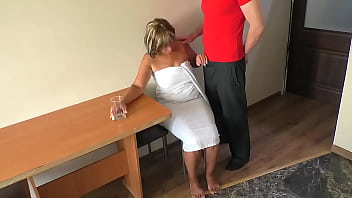 Mom was sad until she touched her son's penis and had anal sex. 13 min