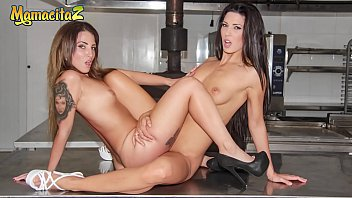Mamacitaz Spanish Milf Try Lesbian Sex With Her Gf On A Fast Food Kitchen Alexa Tomas And Medusa