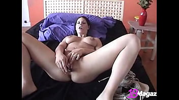 Double The Trouble With Young Coed Kylie Teen Using 2 Dildos To Cum!