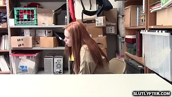 Ella Hughes riding her tight pussy like a Rodeo cowgirl on top of the LP Officers big cock! thumbnail