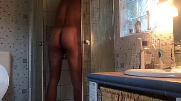 4K getting caught, showering, Hardcore Cumming