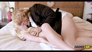 DADDY4K. Tiny blonde rides dick of grooms handsome dad before wedding
