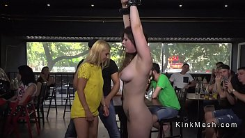 Publicly disgraced slaves fucked by groups Huge tits slave fisted in public bar