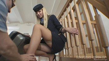 Nylon celebrities upskirts - Leggy stewardess erica