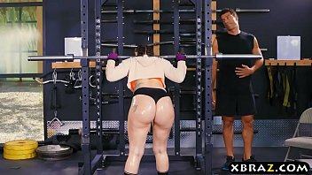 big ass gym babe mandy muse anal fucked after squats min