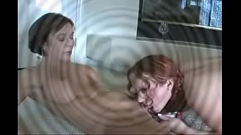 Lesbian pussy squirting in her redhead mouth