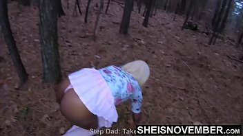 Image: Teaching My Ebony Step Daughter Sex In The Forest & Straddling A BBC, Naive Ebony Nerd Msnovember Obeys Step Dad And Climbs On Top Of His Older Dick , Enormous Ebony Boobies Sagging, Hardcore Taboo Ebony Sex On Sheisnovember