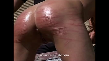 Ass-Whipped with a flexible branch until she pees