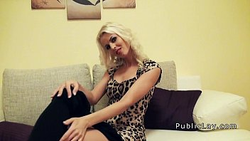 Blonde In Sexy Dress Gets Fucked Pov