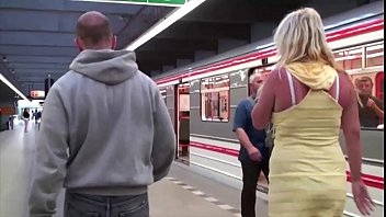 Pussy subway Stella fox is fucked in a subway train by 2 guys with big dicks