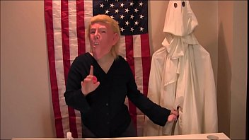 Erotic satire - Donald trump press conference kkk xxx