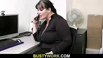 Interview leads to sex with busty chick